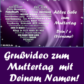 M) DE: Muttertagsgruß mit Deinem Namen