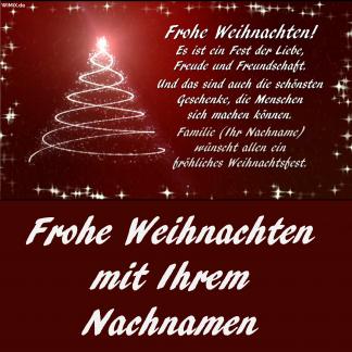 Frohe Weihnachten Video mit Ihrem Namen, Name, Nachname, Vorname, Wunschname, Nachnamen,
