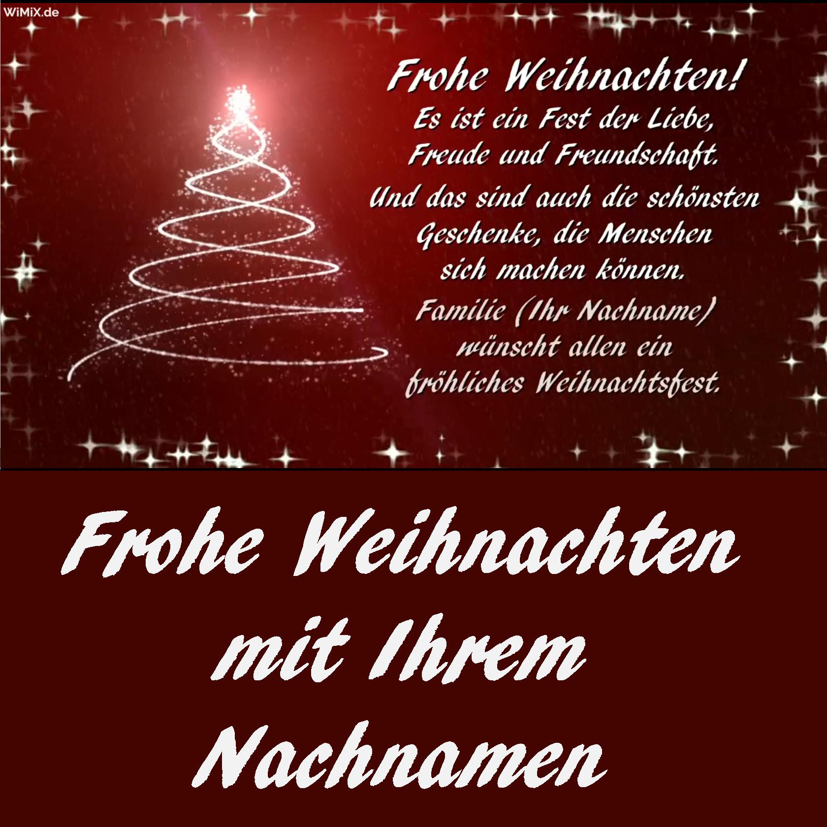 Die Familie Weihnachten Frohe Weihnachtsgrüße