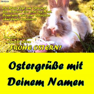 A) FROHE OSTERN